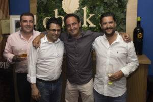 De izquierda a derecha, Raúl Polaino, Antonio Fernández, Antonio Alcaide y Jose Luís Maireles.