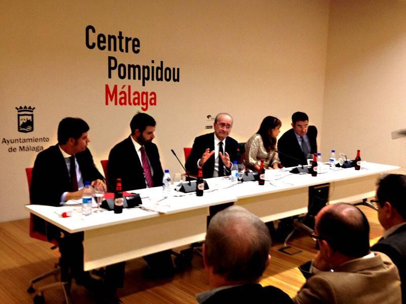 """Presentación de """"Málaga sabe de Arte´16"""" en el Centro Pompidou Málaga el pasado 23 de noviembre"""