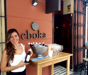 Degustación de Manzanilla La Goya de Sanlúcar de Barrameda en Eboka durante la Feria