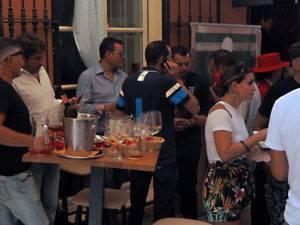 La terraza de Eboka Restaurante en la que disfrutar la Feria de Málaga de forma tradicional