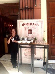 Degustación de Gin Mombasa en Eboka durante la semana de Feria de Málaga