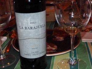 Maridaje deljamónIbéricode la Dehesa de los Monteros con Fino La Barajuela