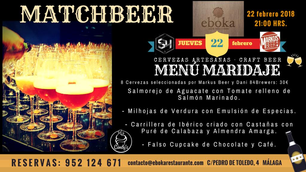 Menu Evento cervecero en Eboka Restaurante el 22 de febrero
