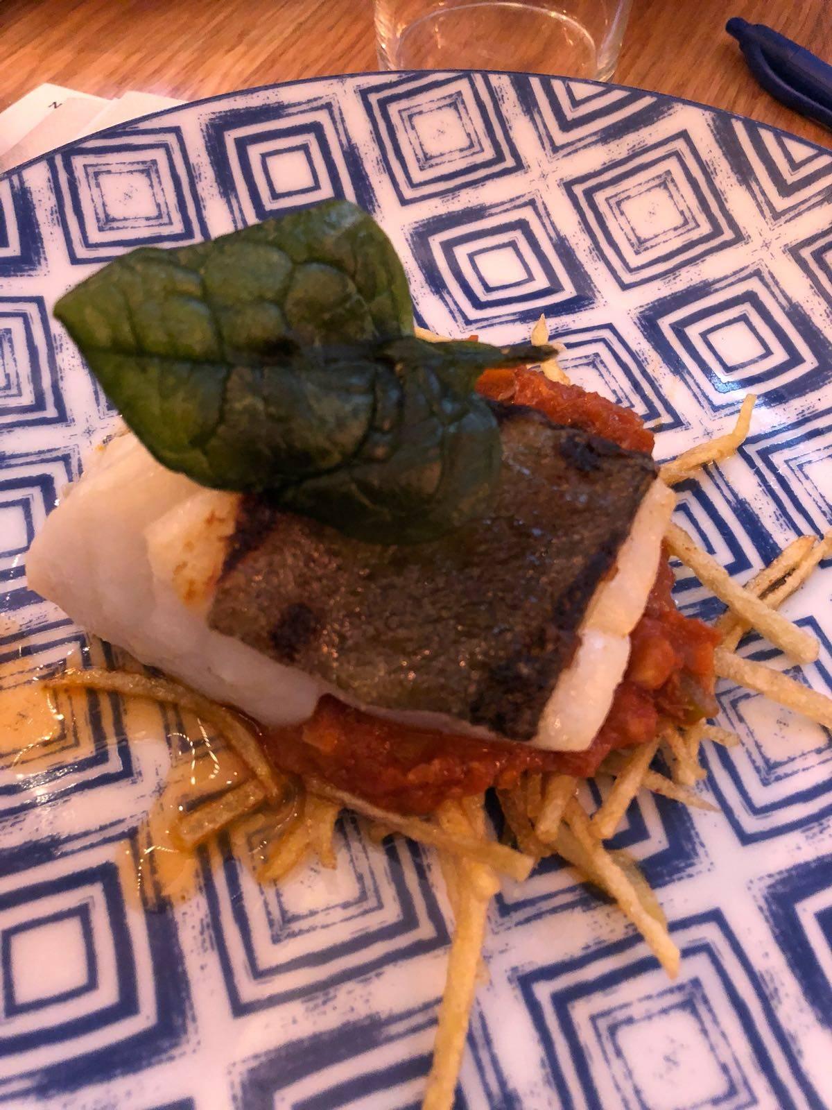 Taco de Bacalao Confitado con Pisto Dulce