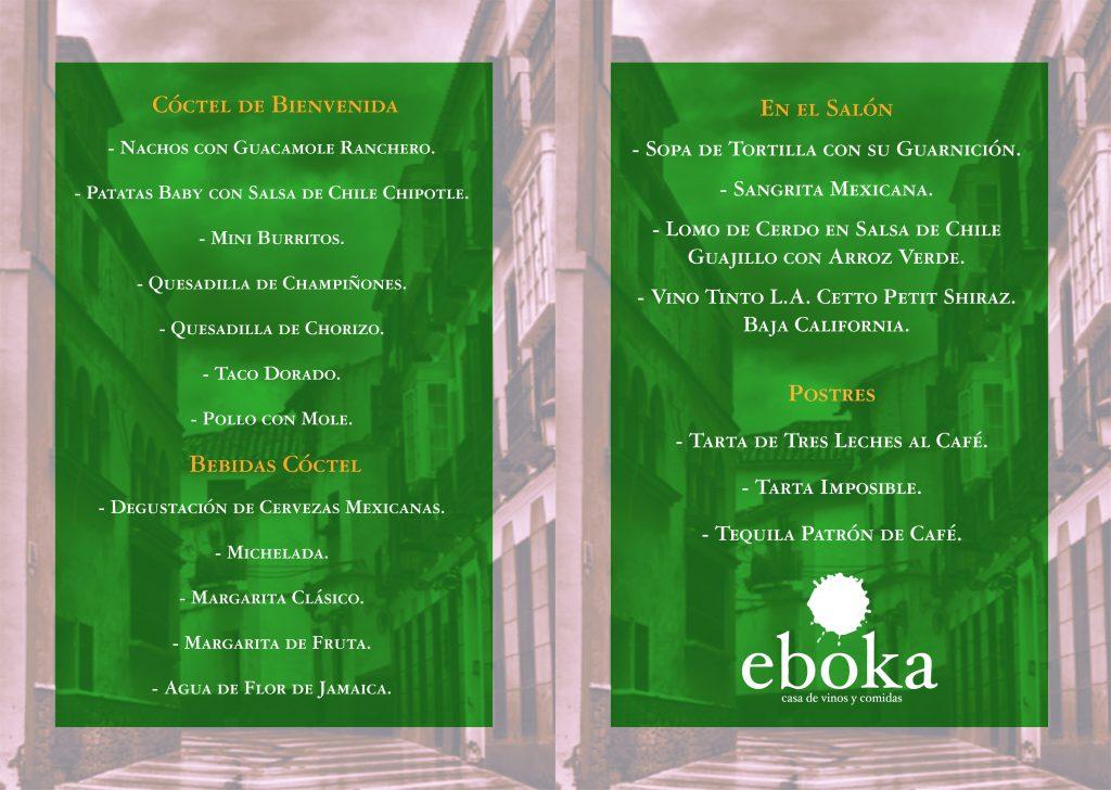 La Sociedad Gastronomica y Viajera Eboka viaja el primer lunes del mes de marzo a México, a través de su gastronomía y bebidas. En el centro de Málaga