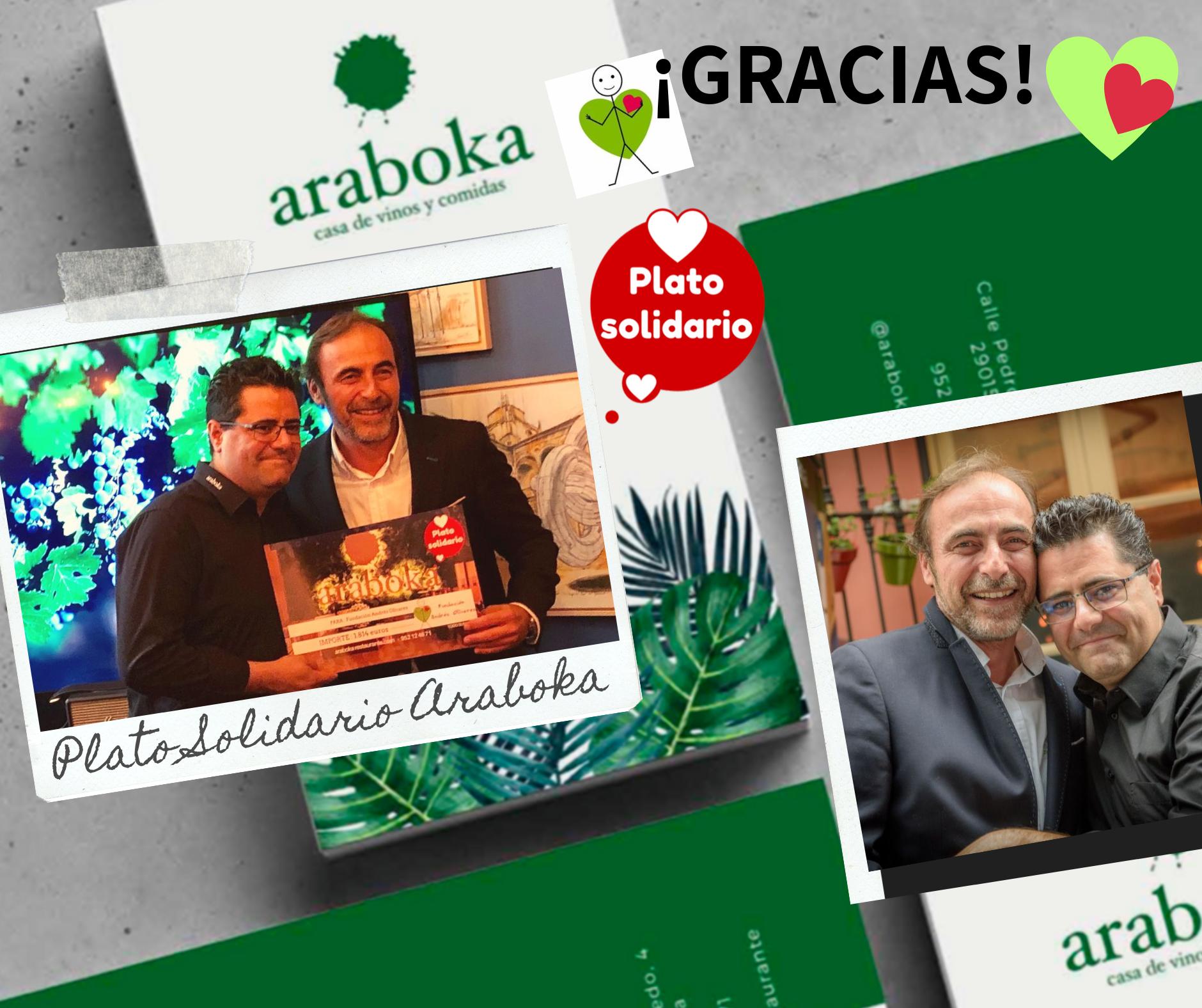 Plato Solidario Araboka Málaga y Fundación Andrés Olivares
