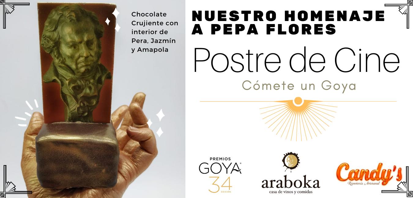 Postre Homenaje Premio de Honor de los Goya en Málaga