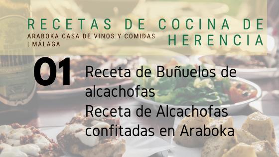 recetas de cocina de herencia alcachofas araboka restaurante malaga
