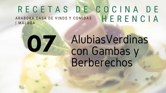 Receta de Alubias Verdinas en Araboka Restaurante