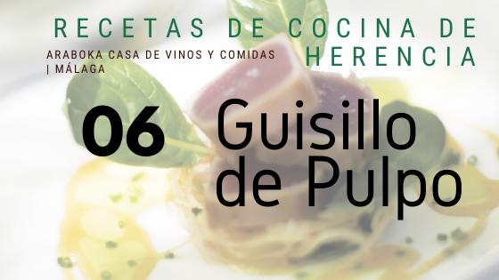 Receta araboka restaurante de Guisillo de Pulpo