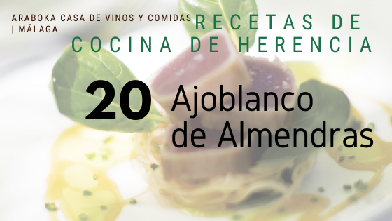 Ajoblanco de Almendras con Helado Malaga