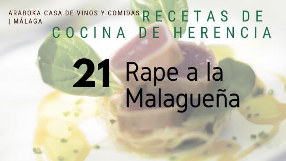 Cazuela de Rape de Malaga en Araboka