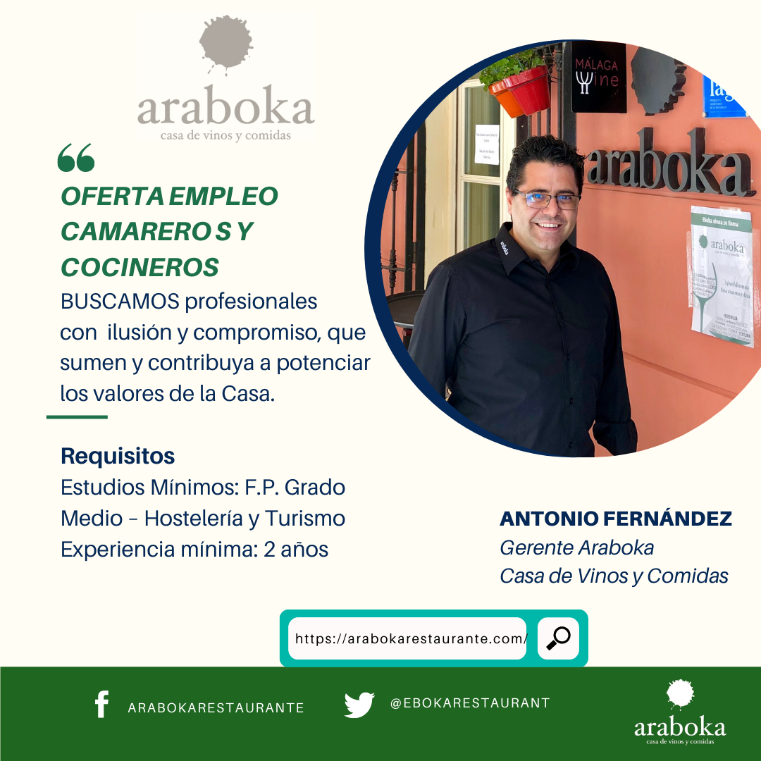 oferta empleo araboka restaurante en Málaga